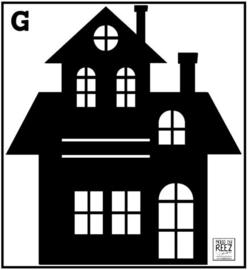 Herbruikbare statische raamfolie   Huisje G