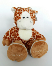 Knuffel giraf | afritsbare voetjes