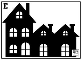 Herbruikbare statische raamfolie | Huisje E