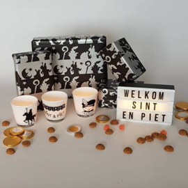 Theelicht Sinterklaas en Piet