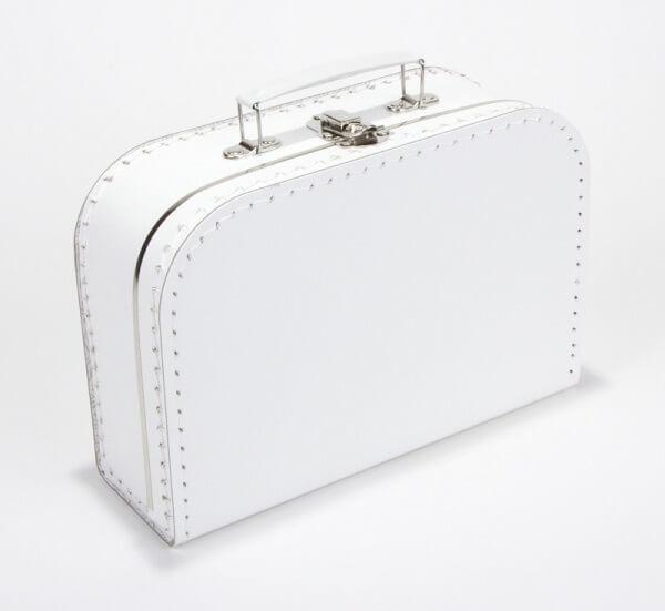 Kinderkoffertje wit met naam