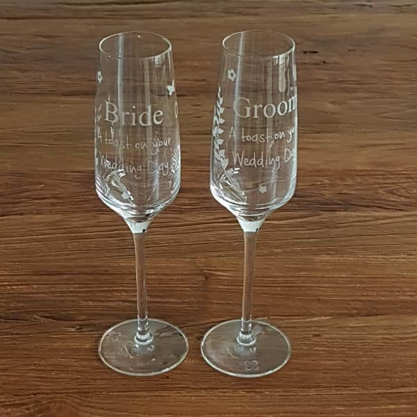 Champagne glazen | A toast on your wedding day