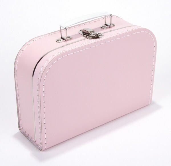 Kinderkoffertje roze met naam