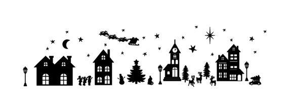 Raamsticker Kerst (statische raamfolie)
