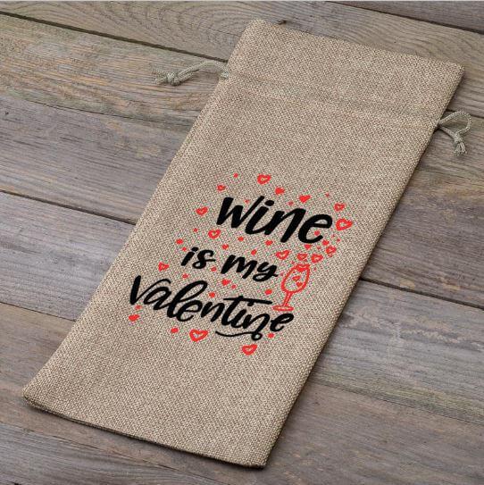 Wijnfleszak | Wine is my Valentine