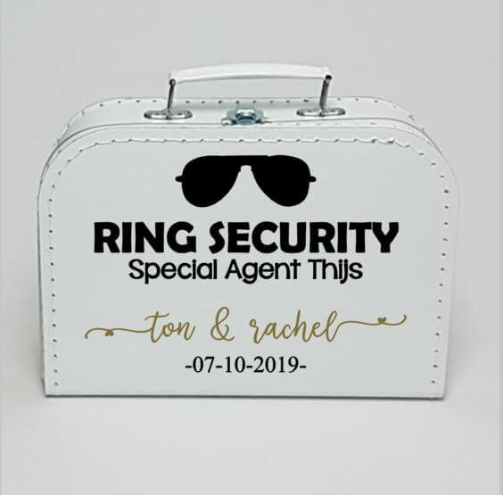 Kinderkoffertje wit | Ring Security zonnebril