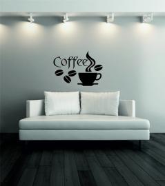 Muursticker: coffee + kopje - prijs vanaf
