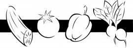 N6-253 keuken sticker ( groente ) prijs vanaf