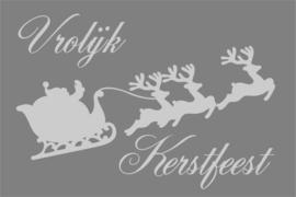 Tekstbord: Vrolijk Kerstfeest