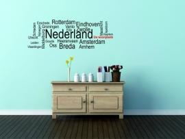muursticker:plaatsnaam Nederland - prijs vanaf