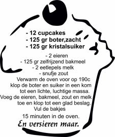 muursticker Recept cupecake