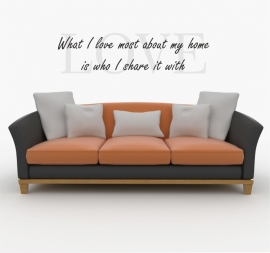 muursticker:LOVE what I love most about my home
