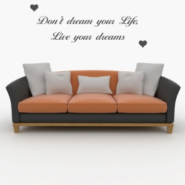 Muursticker: Don't dream your life