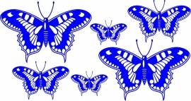 vlinder deco4-153 set  6 vlinders