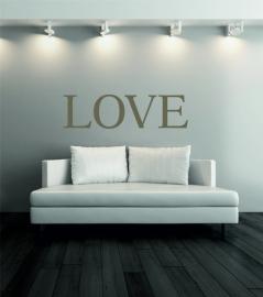 muursticker:LOVE prijs vanaf