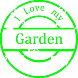 stempel afdruk ( I Love my Garden )