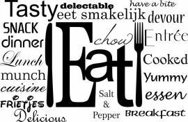 muursticker:Eat