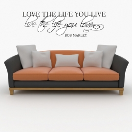 muursticker: LOVE THE LIFE YOU LIVE