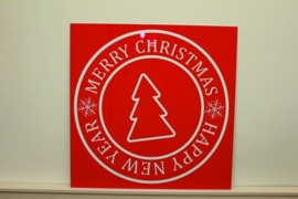 Tekst bord met afbeelding merry christmas