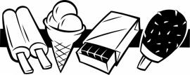 N6-231 keuken sticker ( ijsjes ) prijs vanaf