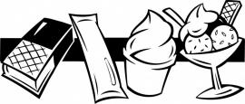 N6-232 keuken sticker ( ijsjes ) prijs vanaf