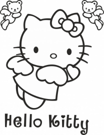 Hello Kitty sticker A4