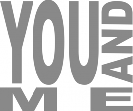 muur sticker YOU AND ME