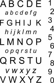 muurstickers:alfabet en cijfers