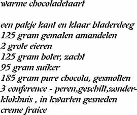 recept warme chocolade taart prijs vanaf