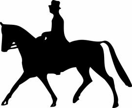 paard met ruiter (grote afmetingen)C9-254