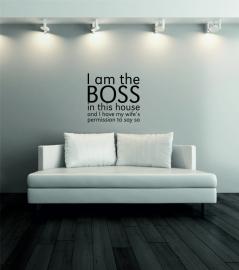 muursticker:I am the BOSS - prijs vanaf