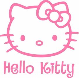 Hello Kitty sticker A3 met tekst - prijs vanaf