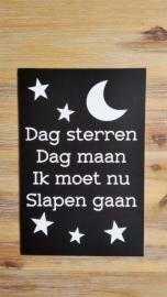 Tekstbordje: Dag sterren Dag maan