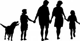 B11-073  gezin met hond prijs vanaf