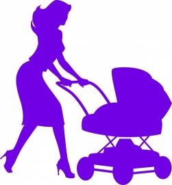 B12-070c vrouw met kinderwagen prijs vanaf