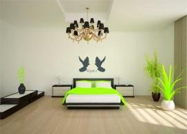 muursticker 2 duiven met tekst Liefde is  - prijs vanaf
