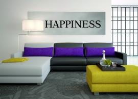 Muursticker: HAPPINESS - prijs vanaf