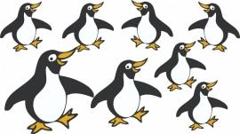 Pinguins set van 8 stuks