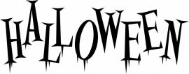 sticker tekst Halloween prijs vanaf