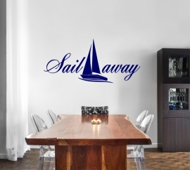 Muursticker: Sail away