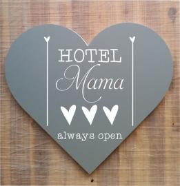 Tekstbord ( hart vorm ) Hotel mama 1