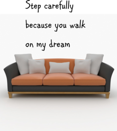 Step carefully because you walk on my dream