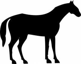 paard (kleine afmetingen) A9-029