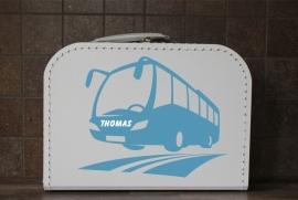 Kinderkoffertje Bus met naam