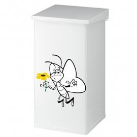 prullenbak sticker vlinder met bloem 3 kleuren prijs vanaf