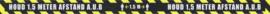 Corona / COVID-19 Vloerstickers houd afstand 1 set van 4 stuks