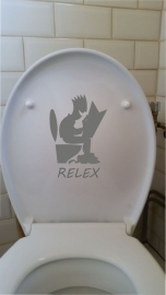 Toilet sticker: RELEX