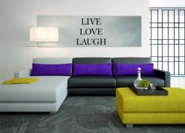 muursticker:LIVE LOVE LAUGH