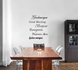 muursticker: Goedemorgen