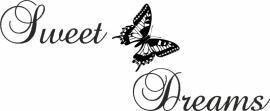 muursticker: sweet  vlinder dreams